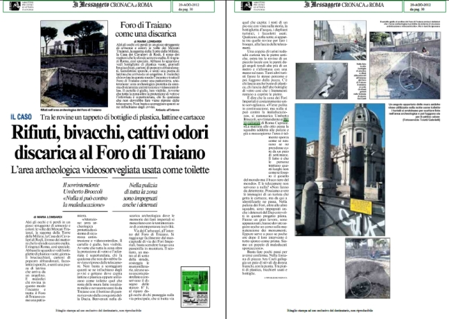 ROMA ARCHEOLOGIA & RESTAURO ARCHITETTURA: Rome, the Imperial Fora & Dr. Roberto Meneghini (2004-14): 'Nothing Accomplished' - ARCHEO, no. 349 (03|2014) & Stampa Vivire Roma [Italiano & English] (26|10|2003).