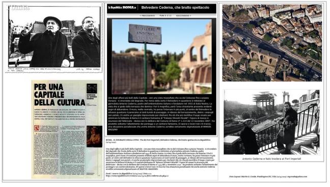 ROMA - IL DEGRADO DELLA CITTA'- Via dei Fori Imperiali, Belvedere Cederna, che brutto spettacolo.La Repubblica (11/05/2011).