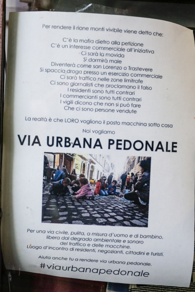 "ROMA ARCHEOLOGICA & RESTAURO ARCHITETTURA: RIONI MONTE I | ""pedonale"" di via Urbana - Pedestrianisation campaign aims to kick Rome's car habit, one street at a time, THE GUARDIAN, U.K., (13 March 2015)."