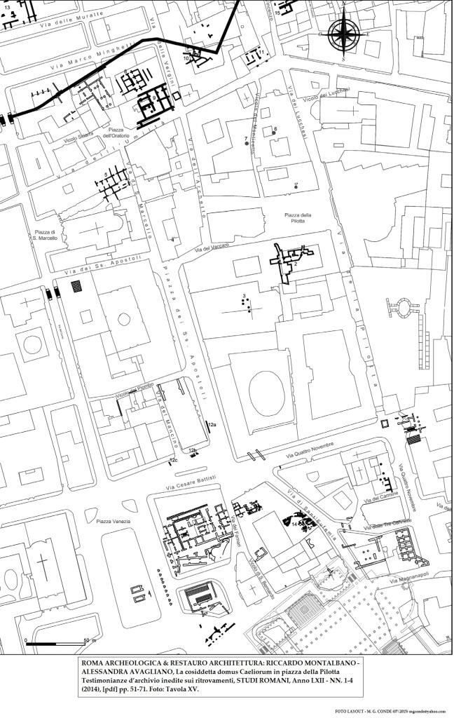 ROMA ARCHEOLOGICA & RESTAURO ARCHITETTURA: RICCARDO MONTALBANO- ALESSANDRA AVAGLIANO, La cosiddetta domus Caeliorum in piazza della Pilotta Testimonianze d'archivio inedite sui ritrovamenti, STUDI ROMANI, Anno LXII - NN. 1-4 (2014), [pdf] pp. 51-71. Foto: Tavola XV.